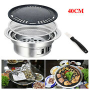 Stainless Bbq Grill Steak Pan Stove Set Korean Table Barbecue Stove Cooker Kit
