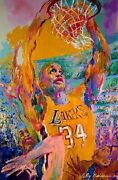 Leroy Neiman Shaq S/n Serigraph A/p Low Number Close Out Sale All Serigraphs