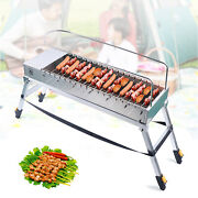 Usb Electric Charcoal Grill Automatic Flip Barbecue Bbq Household Rotary Barbecu