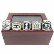 New York Giants 5 Rings Championship Ring Set Best Gift 2021 High Quality