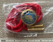 Philmont Boy Scout Ranch 50 Years Of Adventure Bolo Tie Bsa Nm Camp Badge 50th