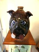 Billy Joe Craven Pig Bank Face Jug Pottery Folk Art Pottery 10and039and039x8and039and039