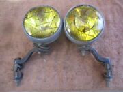 1940and039s-1950and039s Pair Of 6 Inch Arrow Script Truck Fog Lights