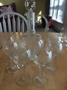 Crystal Wine Decanter Wirh Stopper And Glasses