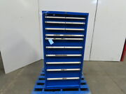 10-drawer Industrial Parts Tool Storage Shop Cabinet 28w X 28-1/2d X 57h