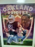 1995 Tim Brown Oakland Raiders Nfl Autograph W/ Photo Lithograph Coa 106 Of 470