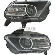 New Left And Right Hid Head Light Fits Ford Mustang 2013-2014 Fo2518113 Fo2519113