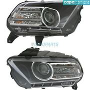 New Lh And Rh Hid Head Light Fits 2013-14 Ford Mustang Fo2518113c Fo2519113c Capa