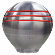 Schmitt And Ongaro Throttle Knob - 1-andfrac12 - Red Grooves 316 Stainless Steel 50020