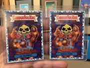 2018 Garbage Pail Kids We Hate The 80s 1a He-manny And 1b Skele-tor Blue Parallel