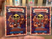 2018 Garbage Pail Kids We Hate The 80s 1a He-manny And 1b Skele-tor Red Parallel