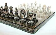 12 X 12 Collectible Premium Brass Made Chess Board Game Set- All Brass Pieces