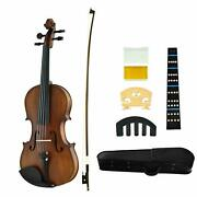 4/4 Violins Kit,solid Pine Top,maple Back And Side Ebony Wood Fingerboard And Pegs