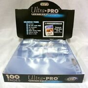 100 Ultra Pro 3-pocket Pages 7 7/8 X 3 5/8 Sheets Protectors Currency Coupons