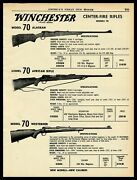 1961 Winchester Model 70 Alaskan African And Westerner Center-fire Rifle Print Ad