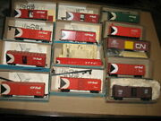 Cp And Cn Roundhouse And Athearn Freight Cars C/w Kadee Couplers
