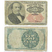 1862-1876 25c Fractional Note Random Issue Currency G Good