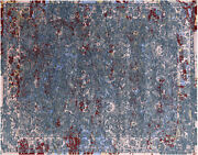 8and039 X 10and039 1 Handmade Wool And Silk Rug - Q7090