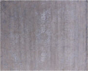8and039 1 X 10and039 Hand Knotted Wool And Silk Rug - Q7094