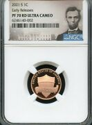 2021 S Lincoln Cent Early Releases Ngc Pf70 Ultra Cameo Portrait
