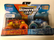 2019 Spin Master Monster Jam Max-d And Monster Mutt Fire And Ice Walmart Exclusive