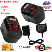 12v Replace For Black And Decker 3.6ah Slide Battery Or Charger Hpb12 A1712 New