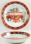 Certified International Home For Christmas Soup Pasta Bowl 11454762