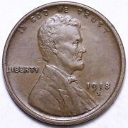 1918-s Lincoln Cent Penny Choice Au+ Free Shipping E646 Ab