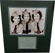 The Andrew Sisters Autographed Index Card Framed With An 8x10 Photo Ga 859297