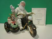Lenox Santaand039s Christmas Ride Motorcycle New In Box With Coa Classic Edition Bike