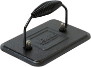 Lodge Cast Iron Rectangular Grill Press With Spiral Handle 6.75x4.5 Inch Lgp3