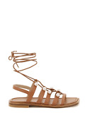 New Stuart Weitzman Goldie Lace-up Sandals With Pearls Goldie Lace Up Tan Tn2 Au