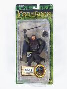 Lord Of The Rings Gimli 9 Poseable Action Figure Axe Throwing Doll 2004