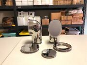2 New 4 Oval Stainless Dorade Cowl Vents With Deck Plates