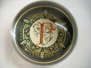 Punch Studio Crystal Initial P Paperweight, Original Box, Crystal Made France