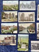 65 Antique Lot Of Victorian Postcards Ephemera For Collecting Or Scrapbooking
