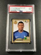 Kylian Mbappe 2018 Panini World Cup Stickers 209 Gold Rookie Rc Psa 9 8629
