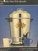 Delonghi Dcu61 The Ultimate Coffee Urn Pot Stainless Steel 20 - 60 Cup New
