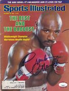 Marvin Hagler Signed Autograph Auto Sports Illustrated Magazine 10/18/82 Jsa