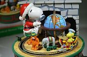 Vintage Peanuts Snoopy And Woodstock Train Willitts Music Box In Box