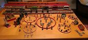 One Of A Kind Vintage Miniature Circus. 14 Rail Cars. All Hand Made And Painted