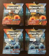 Monster Jam Fire And Ice Lot Of 4 - Soldier Fortune W Dragonoid Northern Nightmare