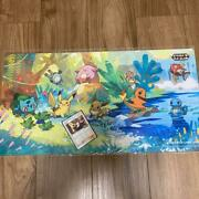 Pokemon Card Cynthia 155/s-p Promo And Playmat Set Extra Battle Day Limited