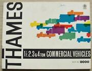 Ford Thames 1 Andfrac12 2 3 And 4 Ton Commercial Vehicles Sales Brochure Aug 1960 V6889