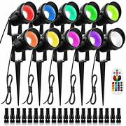 Zuckeo 10w Rgb Color Change Landscape Lighting With Quick Connectors Low