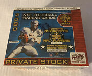 2000 Pacific Private Stock Hobby Factory Sealed Nfl Football Box Tom Brady Rc