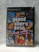 Grand Theft Auto Vice City Ps2 Brand New First Printing Black Label Raresealed