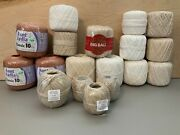 Crochet Thread Bundle Of 18 Spools Various Brands And Lengths