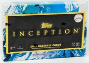 2021 Topps Inception Baseball Hobby 16 Box Case Blowout Cards