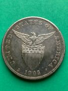 Us Philippines One Peso 1903-s 599 Toned